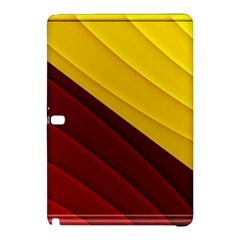 3d Glass Frame With Red Gold Fractal Background Samsung Galaxy Tab Pro 12.2 Hardshell Case