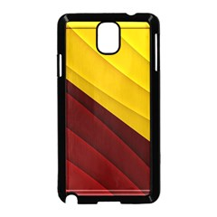 3d Glass Frame With Red Gold Fractal Background Samsung Galaxy Note 3 Neo Hardshell Case (Black)