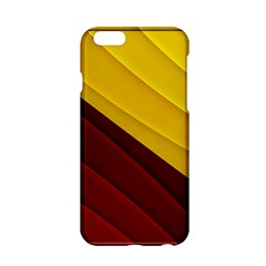 3d Glass Frame With Red Gold Fractal Background Apple iPhone 6/6S Hardshell Case