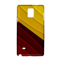 3d Glass Frame With Red Gold Fractal Background Samsung Galaxy Note 4 Hardshell Case