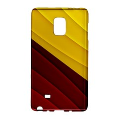 3d Glass Frame With Red Gold Fractal Background Galaxy Note Edge