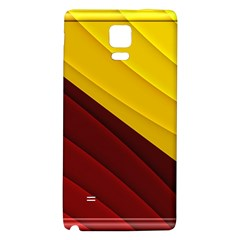 3d Glass Frame With Red Gold Fractal Background Galaxy Note 4 Back Case