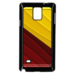 3d Glass Frame With Red Gold Fractal Background Samsung Galaxy Note 4 Case (Black)