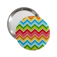 Colorful Background Of Chevrons Zigzag Pattern 2 25  Handbag Mirrors