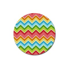 Colorful Background Of Chevrons Zigzag Pattern Magnet 3  (Round)