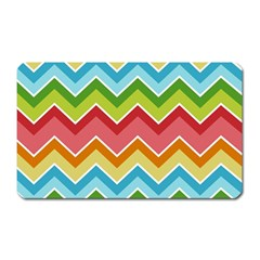 Colorful Background Of Chevrons Zigzag Pattern Magnet (rectangular)