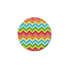 Colorful Background Of Chevrons Zigzag Pattern Golf Ball Marker (4 Pack)