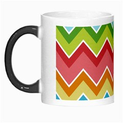 Colorful Background Of Chevrons Zigzag Pattern Morph Mugs