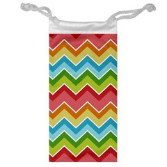 Colorful Background Of Chevrons Zigzag Pattern Jewelry Bag