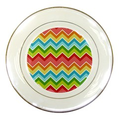 Colorful Background Of Chevrons Zigzag Pattern Porcelain Plates