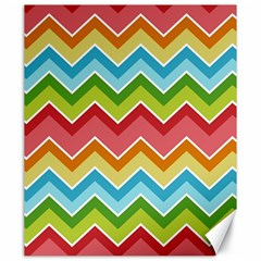 Colorful Background Of Chevrons Zigzag Pattern Canvas 20  X 24
