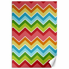 Colorful Background Of Chevrons Zigzag Pattern Canvas 20  x 30