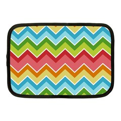 Colorful Background Of Chevrons Zigzag Pattern Netbook Case (medium)