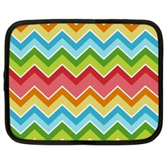 Colorful Background Of Chevrons Zigzag Pattern Netbook Case (large)