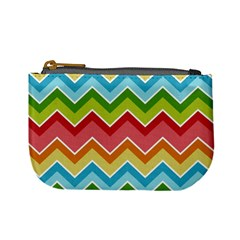 Colorful Background Of Chevrons Zigzag Pattern Mini Coin Purses