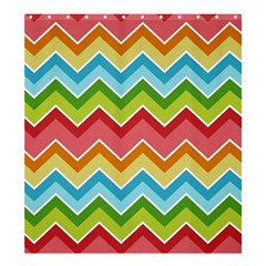 Colorful Background Of Chevrons Zigzag Pattern Shower Curtain 66  X 72  (large)