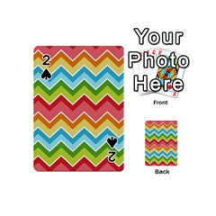 Colorful Background Of Chevrons Zigzag Pattern Playing Cards 54 (Mini)