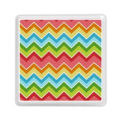 Colorful Background Of Chevrons Zigzag Pattern Memory Card Reader (square)
