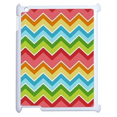 Colorful Background Of Chevrons Zigzag Pattern Apple iPad 2 Case (White)