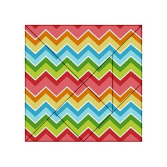 Colorful Background Of Chevrons Zigzag Pattern Acrylic Tangram Puzzle (4  x 4 )