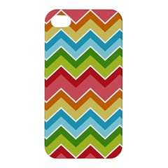 Colorful Background Of Chevrons Zigzag Pattern Apple iPhone 4/4S Premium Hardshell Case