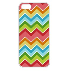 Colorful Background Of Chevrons Zigzag Pattern Apple iPhone 5 Seamless Case (White)
