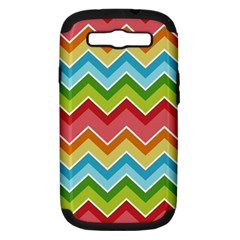 Colorful Background Of Chevrons Zigzag Pattern Samsung Galaxy S III Hardshell Case (PC+Silicone)