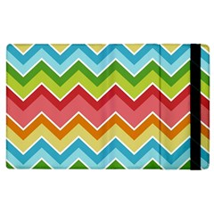 Colorful Background Of Chevrons Zigzag Pattern Apple iPad 2 Flip Case
