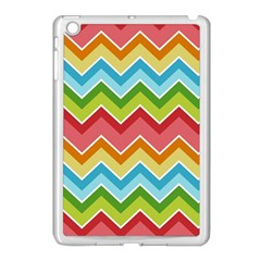 Colorful Background Of Chevrons Zigzag Pattern Apple iPad Mini Case (White)