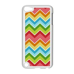 Colorful Background Of Chevrons Zigzag Pattern Apple Ipod Touch 5 Case (white)