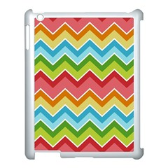 Colorful Background Of Chevrons Zigzag Pattern Apple Ipad 3/4 Case (white)