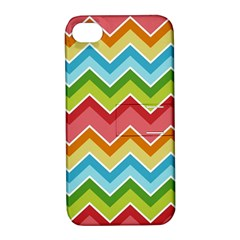 Colorful Background Of Chevrons Zigzag Pattern Apple iPhone 4/4S Hardshell Case with Stand