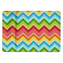 Colorful Background Of Chevrons Zigzag Pattern Samsung Galaxy Tab 10 1  P7500 Flip Case