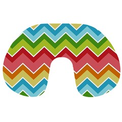 Colorful Background Of Chevrons Zigzag Pattern Travel Neck Pillows
