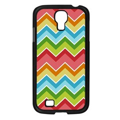 Colorful Background Of Chevrons Zigzag Pattern Samsung Galaxy S4 I9500/ I9505 Case (Black)