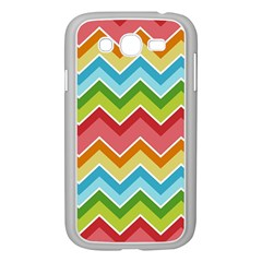 Colorful Background Of Chevrons Zigzag Pattern Samsung Galaxy Grand DUOS I9082 Case (White)