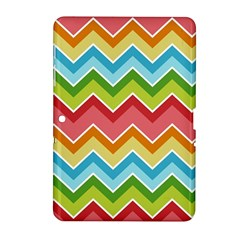 Colorful Background Of Chevrons Zigzag Pattern Samsung Galaxy Tab 2 (10.1 ) P5100 Hardshell Case