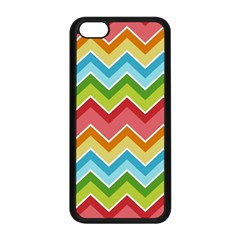 Colorful Background Of Chevrons Zigzag Pattern Apple iPhone 5C Seamless Case (Black)