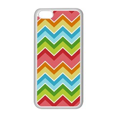 Colorful Background Of Chevrons Zigzag Pattern Apple iPhone 5C Seamless Case (White)