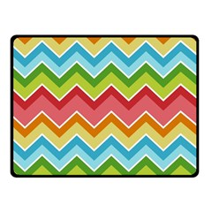 Colorful Background Of Chevrons Zigzag Pattern Double Sided Fleece Blanket (small)
