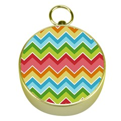 Colorful Background Of Chevrons Zigzag Pattern Gold Compasses