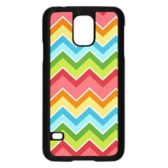 Colorful Background Of Chevrons Zigzag Pattern Samsung Galaxy S5 Case (Black)