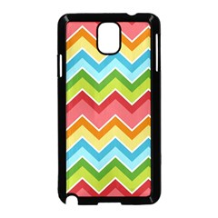 Colorful Background Of Chevrons Zigzag Pattern Samsung Galaxy Note 3 Neo Hardshell Case (Black)
