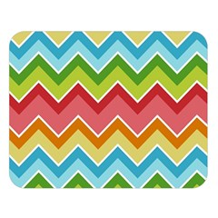 Colorful Background Of Chevrons Zigzag Pattern Double Sided Flano Blanket (Large)