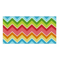 Colorful Background Of Chevrons Zigzag Pattern Satin Shawl