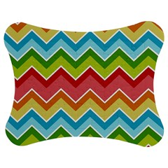 Colorful Background Of Chevrons Zigzag Pattern Jigsaw Puzzle Photo Stand (Bow)