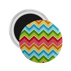Colorful Background Of Chevrons Zigzag Pattern 2 25  Magnets