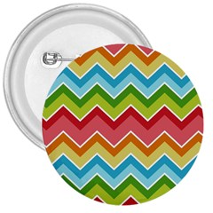 Colorful Background Of Chevrons Zigzag Pattern 3  Buttons
