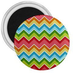 Colorful Background Of Chevrons Zigzag Pattern 3  Magnets