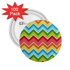 Colorful Background Of Chevrons Zigzag Pattern 2 25  Buttons (100 Pack)